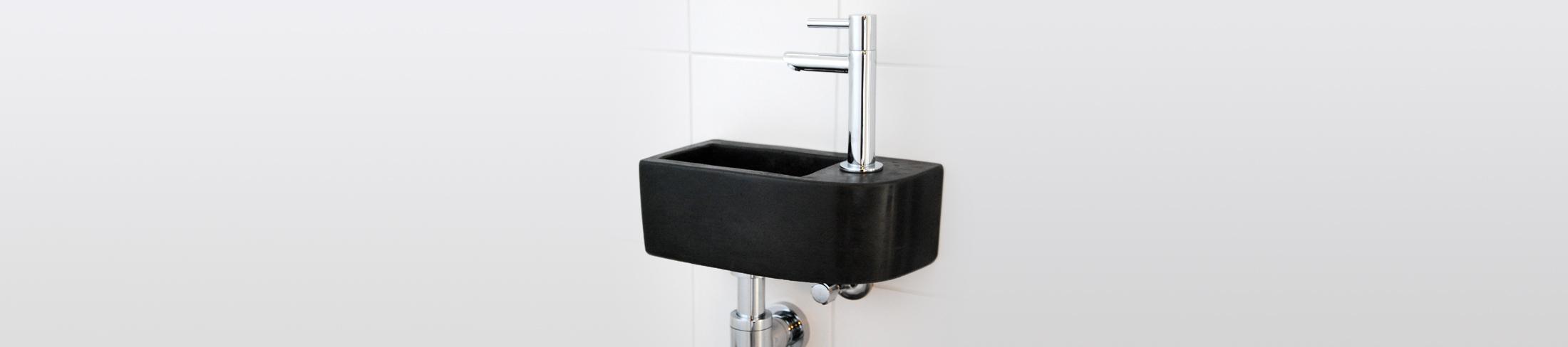 Toiletfontein van beton_Slider homepage_Klein toiletfontein zwart